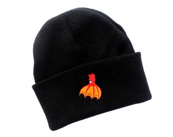 Vampire Squid Beanie (knit beanie squid hat ocean lover cephalopod patch octopus clothing tentacles octopus hat winter clothing)