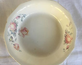 Royal China Serving Bowl, Rosemary Pattern Royal China, Shabby Chic Roses, Beautiful Vintage Shabby Chic Bowl