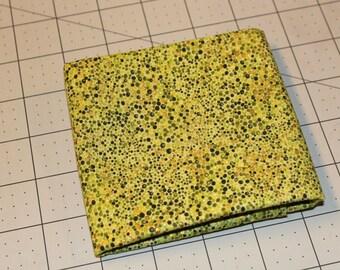 Crescendo by Studio RK for Robert Kaufman one each Fat Quarter #13708, green dot metallic