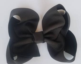 Solid Grosgrain bow