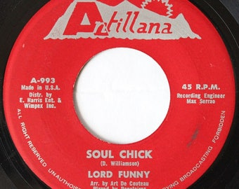 Lord Funny, Soul Chick, Antillana Records, USA 1973, Trinidad Calypso 45rpm Vinyl