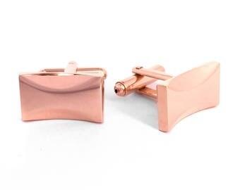 Rose Gold Simple Bow Cufflinks