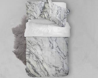 Marble Comforter , Marble , Bedding , Bedroom Decor , Dorm Bedding , Bedroom Decor , Housewares , Marble Comforter , Marble Bedding , White