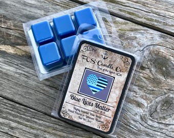 Wax Melts ~ BLUE LIVES MATTER Wax Melt ~ Scent Wax Melts ~ Candle Melts ~ Wax Melt ~ Law Enforcement ~ Handmade ~ Scented Wax Melt