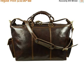 ON SALE Leather Travel Bag for menLeather Duffel bag Mens