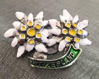 Edelweiss flowers (1.5-inch) Switzerland hat pin statement ring
