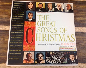 The Great Songs of Christmas Album TWO Vintage Vinyl Record LP 1962
