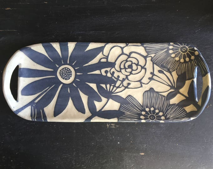 Rectangle Floral tray
