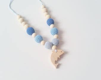 "Lactating necklace ""Baby Dolphin"""
