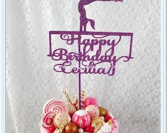 Gymnastics Cake Topper - Balancing Beam - Gymnastics Party Decorations - Gymnastics Party Decor - Gymnastics Birthday Party Cake Topper