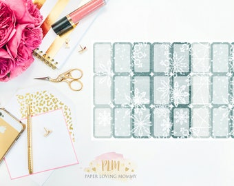 January Halfbox Stickers | Planner Stickers designed for use with the Erin Condren Life Planner