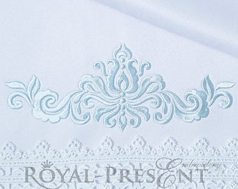 Machine Embroidery Design Ornamental Elegant Decor V - 3 sizes