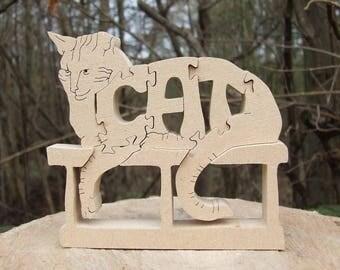 cat ornament, cat gift, wooden cat gift, cat statue, unique cat gift, unique pet gift, wooden pet gift, wooden cat statue, gift for mum