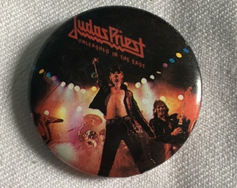 Vintage Judas Priest Pin - Unleashed In The East
