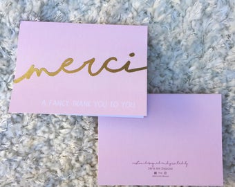Merci a fancy thank you to you - Thank You Card