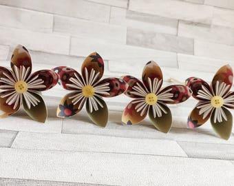Vintage look paper flowers, set of 4, bouquet, floral arrangement, colourful, wedding center piece