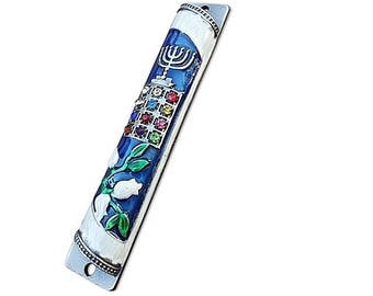 Mezuzah Case - Door Mezuza For 10 cm Scroll with enamel