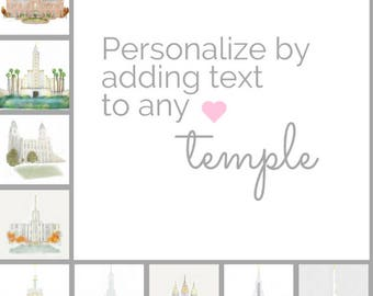 All, Personalized Temple Print, Printable of Physical, Commissioned Art, Temple Sealing Present, Print, Gift, LDS Printable, Temple Sealing