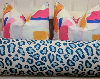 blue and white leopard print, blue cheetah print, animal print, linen like, chinoiserie decor, blue leopard print