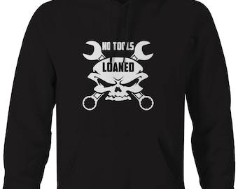 No Tools Loaned Skull Wrenches Hooded Sweatshirt- B151