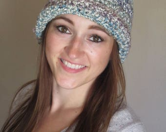 Crocheted multicolored hat