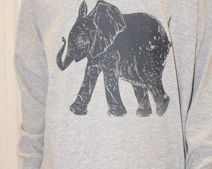 Children's Unisex Long-sleeve Elephant Tee