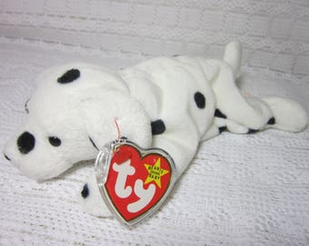 Rare Ty Beanie Baby Sparky with Error - Tush Tag Shows Dotty