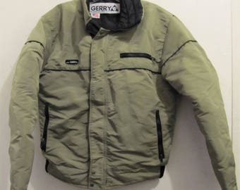 A Men's M0D Vintage 80's,Green,DOWN Filled Nylon Bomber SKI Jacket by GERRY.M
