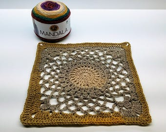 "Crochet 12"" Kaleidoscope Granny Square Pattern DIGITAL DOWNLOAD ONLY"
