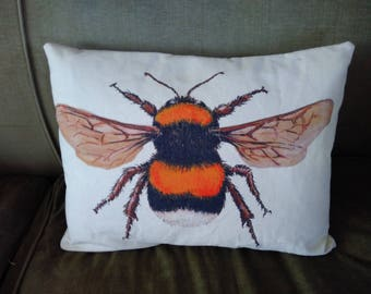 Oblong Bumble Bee cushion