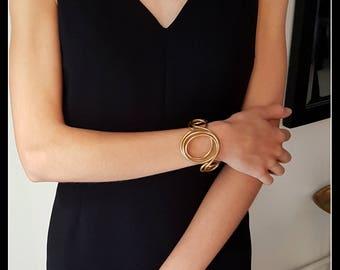 Brass bracelet gold look Golden bracelet-Golden jewels-contemporary jewellery