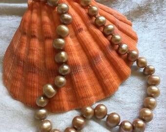 PRECIOUS PEARLS:  Vintage Golden Pearls