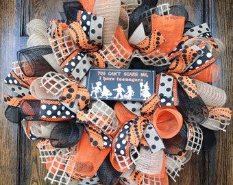 Halloween wreath - halloween decor - fall wreath - halloween burlap wreath - halloween door - halloween front porch - fall decor - halloween