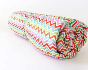 Multi colored Chevron Annikens Waterproof Picnic Blanket, Stroller Blanket, Minky, Park Blanket, Waterproof Blanket PUL Blanket