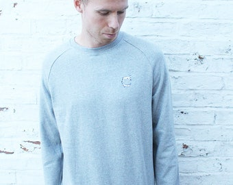 Organic Speckled Jumper - Grey