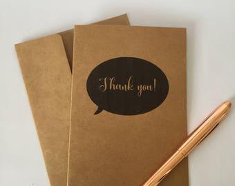 Thank you  greeting card A6 friendship card