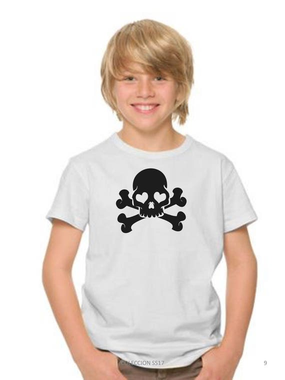 REBAJADO Boy t-shirt SKULL in black