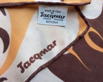 Vintage Jacqmar silk twill scarf square