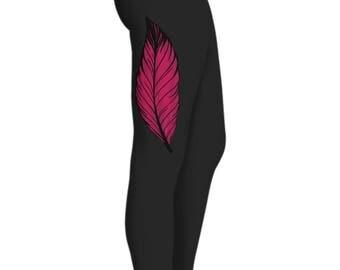 Feather Yoga Pants - Graphic Leggings/Yoga Pants/Printed Leggings