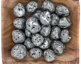 Pyrite Tumbled - Root Chakra - Reiki - Energy Healing - Base Chakra - Tumbled Pyrite - Fools Gold
