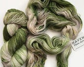 Weeping Willow - Solid Sock - hand dyed yarn, fingering, green, canadian