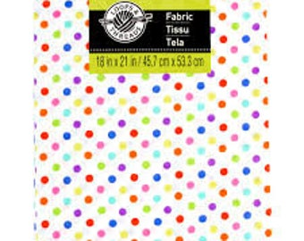 Cotton Fabric by Loops & Threads®, Multi Small Dots
