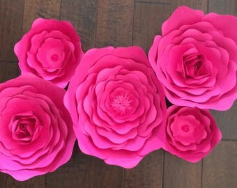 5 piece paper flower set