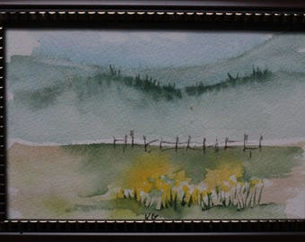 Mini Original 2 watercolor 4 by 6 inches - shipping included