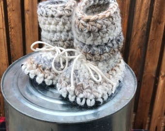 TALL MINKY INFANT crochet slippers – infant tall slipper, tall crochet slippers, baby booties, infant slippers, winter slippers, babywearing