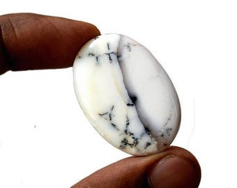 80% Sale Dendritic Opal 39.5 Cts AAA Quality Natural Oval Loose Gemstone Cabochon Semi-Precious Cabs 36x24x5 MM AC2751
