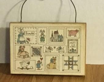 Miniature country wall plaque