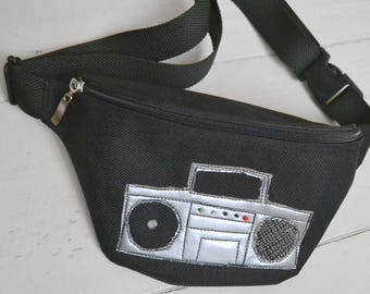 Waist bag, bum bag, fanny pack, traveling bag, treat poach, hip sack,  tape recorder, small bag, festival bag