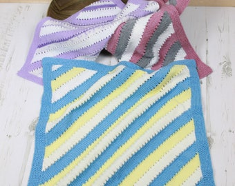 instant download striped baby afgham blanket pattern USA & UK Terms kp394