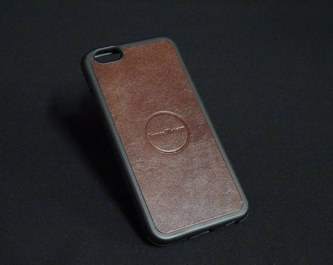 Apple iPhone 6 6S - Jimmy Case in Cherry Brown - Kangaroo leather - Handmade - James Watson